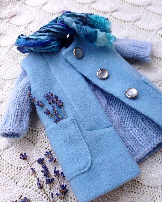 Успела таки до захода солнца! #кашемировоепальто #кашемир #голубой #одеждадлякукол #шьюсама #люблюшить #шью #мода #стиль #стильно