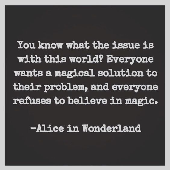 magic alice in wonderland quote