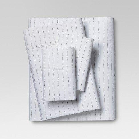 Organic Cotton Printed Sheet Set 300 Thread Count Threshold With Images Organic Sheet Set Organic Sheets Organic Cotton Sheets