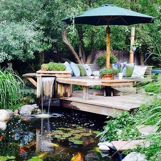 Garden with Fish Ponds