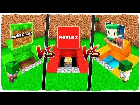 Base Secreta De Minecraft Vs Base Secreta De Roblox Vs Base