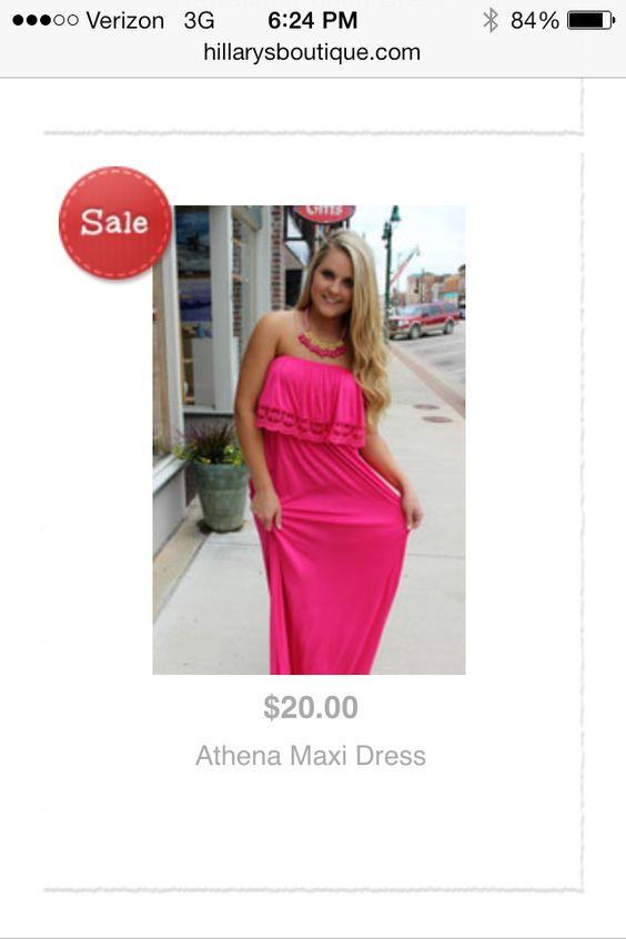Athena Maxi Dress @shophillarys