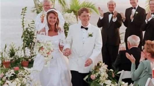 Fotografia sfuocata delle nozze di Bill e Melinda Gates