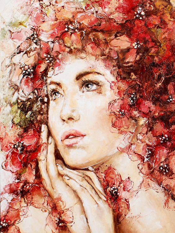Resultado de imagem para imagem de pintura de elzbieta brozek