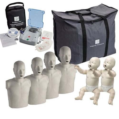 Prestan CPR Manikins and AED Trainer - The Complete Instructor Package | COMP-PK-PREST made by Prestan | CPR Savers and First Aid Supply