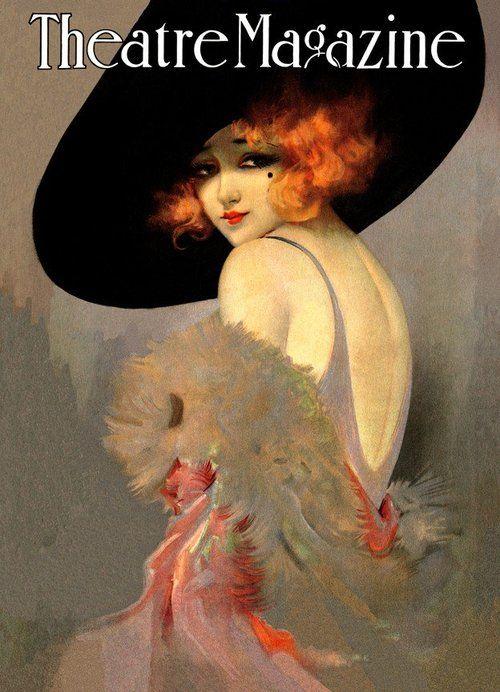 Theatre Magazine 1930: 1920, Vintage Illustrations, Vintage Poster, Ads Posters Magazines Cards, Vintage Magazine Cover, Art Deco