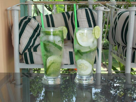 Cooking Adventures with Chris: Mint Lime Cucumber Spritzer