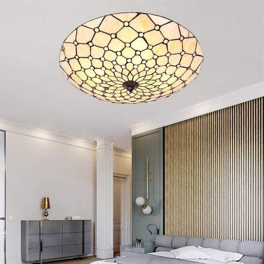 Handmade Flush Stained Glass Ceiling Lamp Glass Ceiling Lamps Ceiling Lamp Floor Lamp Bedroom
