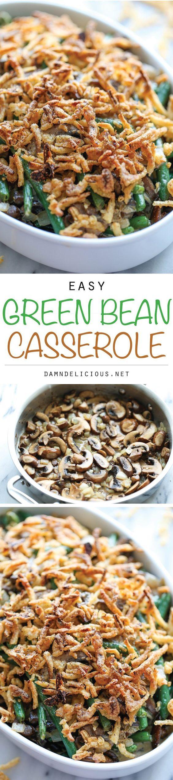 Easy Green Bean Casserole @FoodBlogs