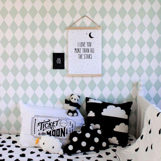 farg&form moln cushion cover, harlequin wallpaper
