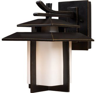 ELK Lighting 42170/1 Asian 1 Light Outdoor Sconce from the Kanso Collection