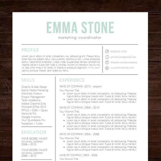 free cover letter  design design and creative resume on pinterest