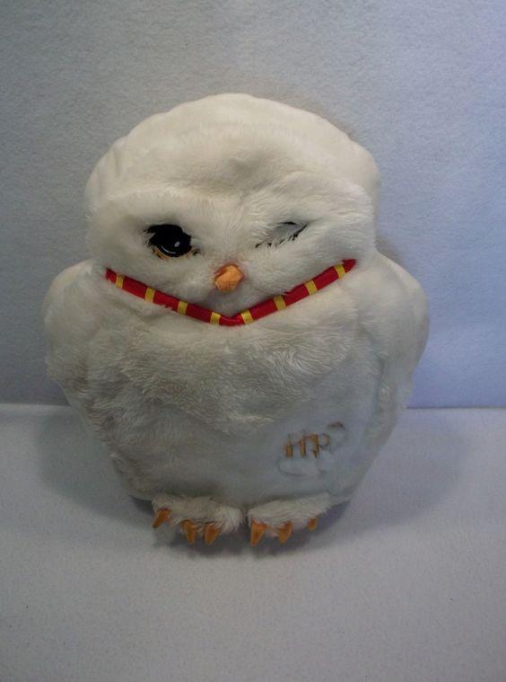 "Harry Potter Hedwig white messenger Owl 16"" pillow plush toy JK Rowling"