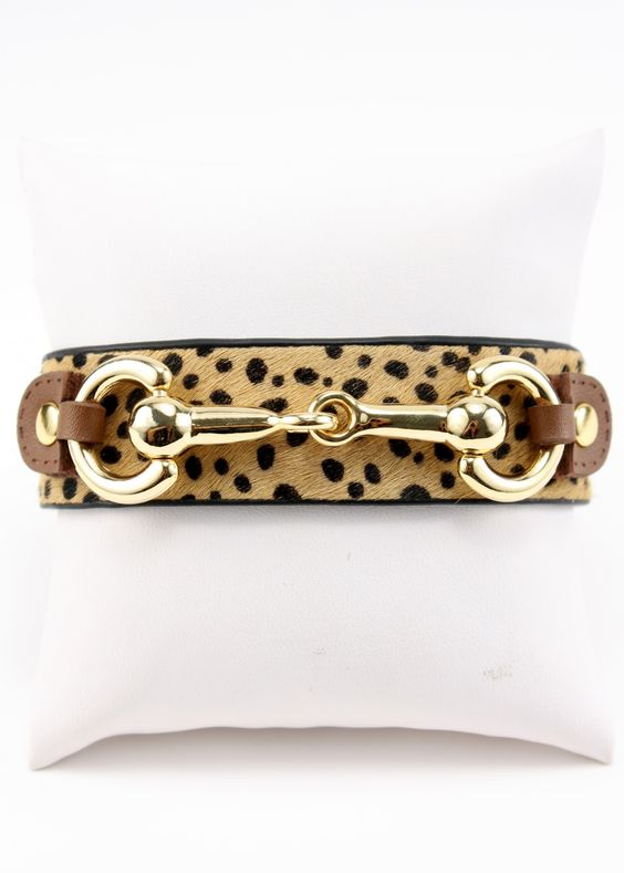 Just The Thing Cheetah print bracelet. Animal print is a neutral!