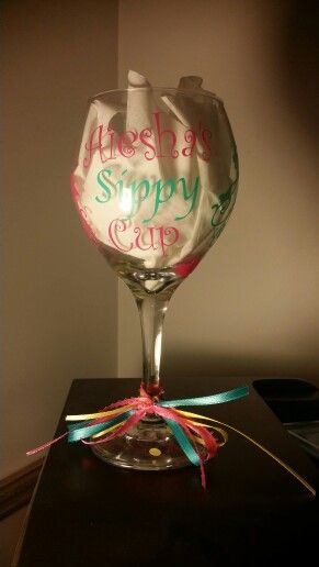 Wine glass made with vynil