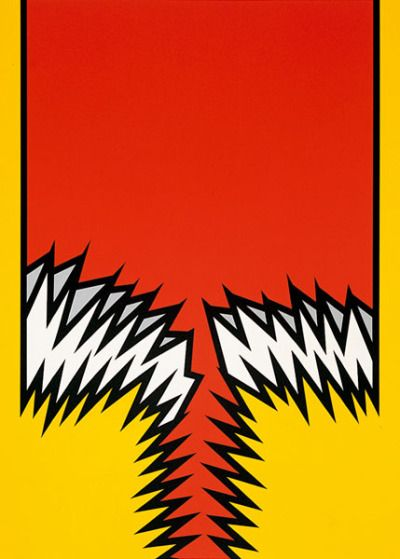 felixinclusis:  mrkiki: Nicholas Krushenick Untitled V from Fire-Flash-Fire-Fade Portfolio. 1971. Silkscreen. 83.19 cm x 60.96 cm. VIA