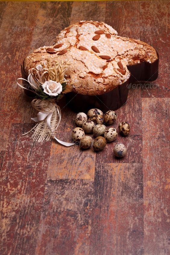 Stock photo available for sale at Photodune: Colomba And Quail Eggs