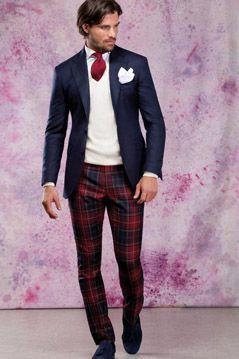 plaid tuxedo pants - Pi Pants