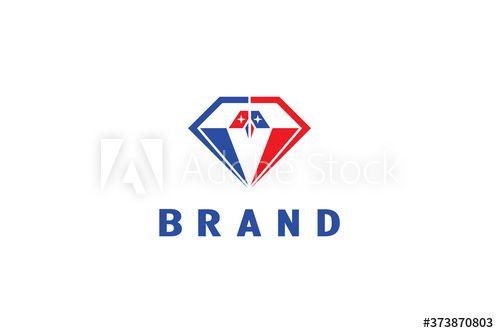 Bird Diamond Logo In 2021 Diamond Logo Elegant Branding Logos