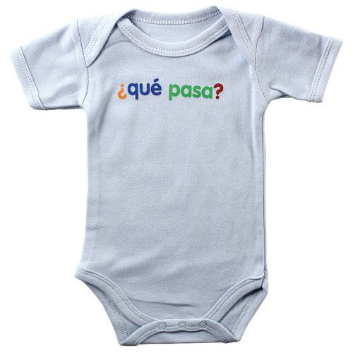 Baby Sayings Bodysuit - Que Pasa 9-12 months