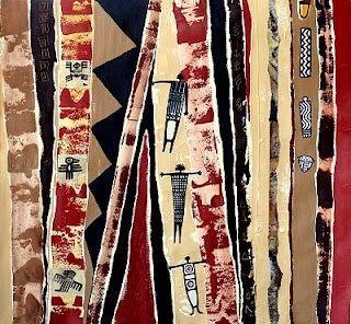 """""""Ancient Symbols"""" Mixed media on Paper"""