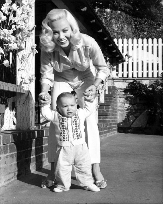 Mamie Van Dorn and her son Perry