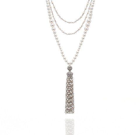 Gatsby Pearl Tassel Necklace
