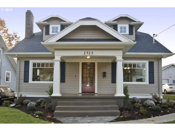 Craftsman Bungalow Home Sweet Vintage Home Pinterest Home Colors And Blue Shutters