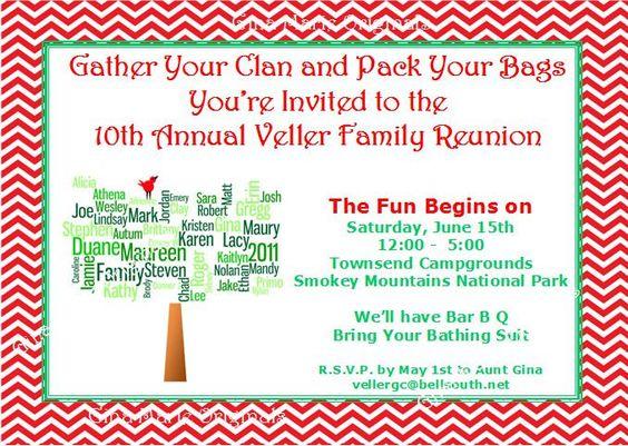 family reunion invitation wording – Family Gathering Invitation Wording