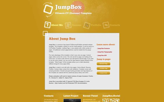 Clean CV u2013 Responsive Resume Template + 4 Bonuses Template - website resume template