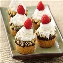 Mini Ice Cream Cookie Cups | Recipe | Cookie Cups, Ice and Cream