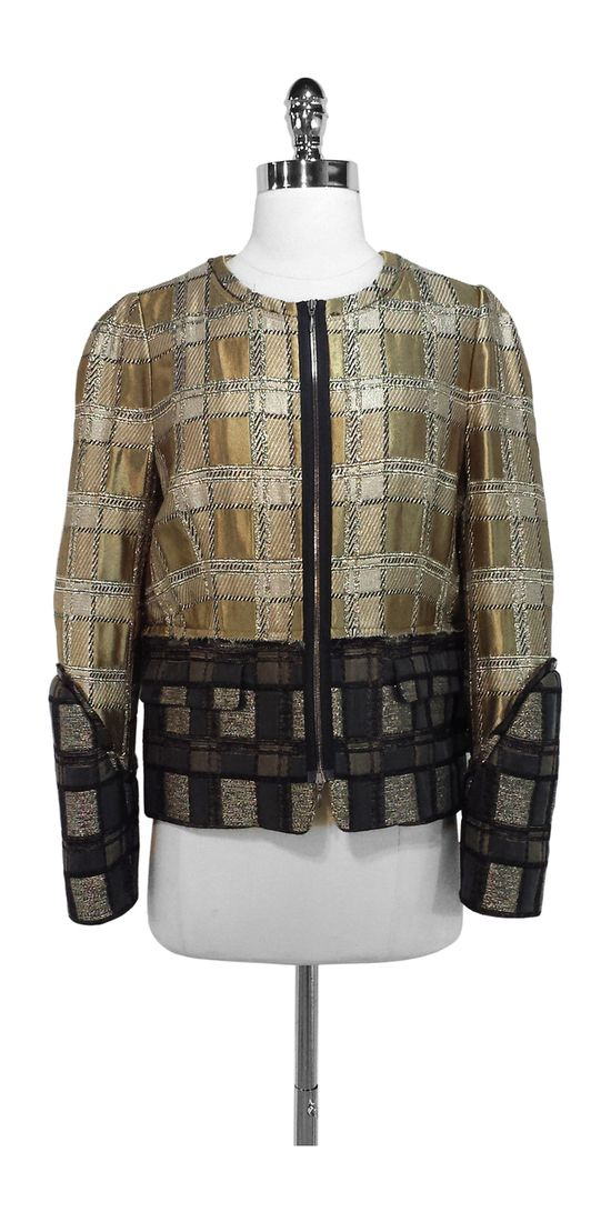 Current Boutique - Marni - Gold Brocade Zip Jacket Size M (Euro size 40), $724.99 (http://www.currentboutique.com/marni-gold-brocade-zip-jacket-size-m-euro-size-40/)