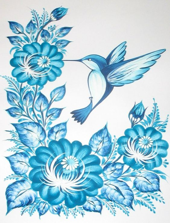 Петриковский роспись раскраска