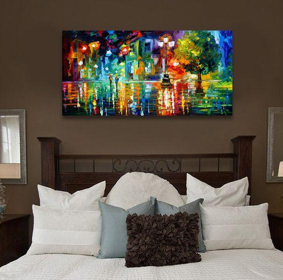 Comprar paisaje abstracto imprimir pintura for Sala de estar noche