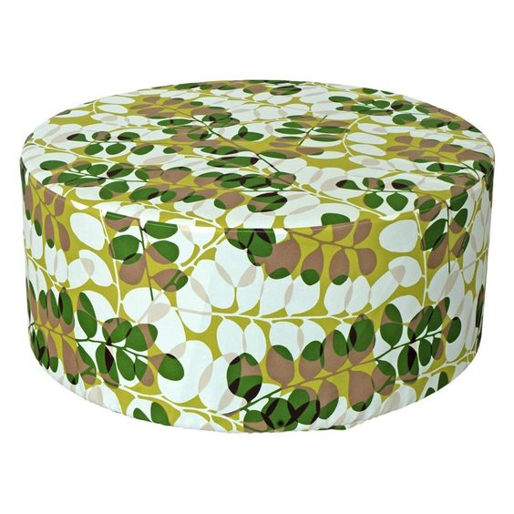 Creative Living Round 40 in. Outdoor Pouf Ottoman