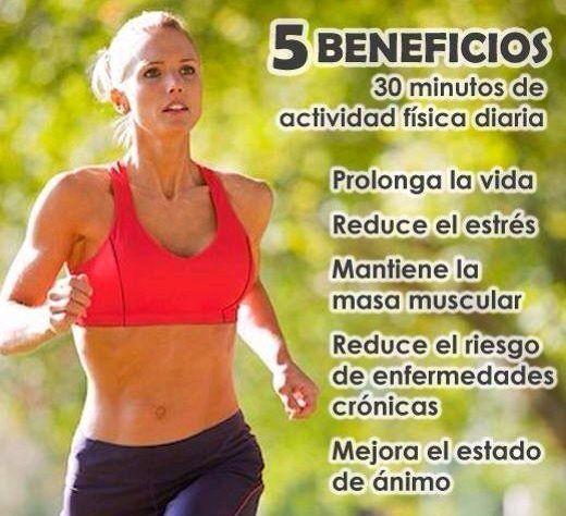 La actividad física es la forma más eficaz de cuidar nuestra salud y mejorar nuestro estado o acondicionamiento físico. Aquí te menciono 5 beneficios de 30 minutos de ejercicio DIARIO. Chicas...vamos a ejercitarnos. #infitbyotisrutinel #eshoradequererse #salud #vamosaejercitarnos: