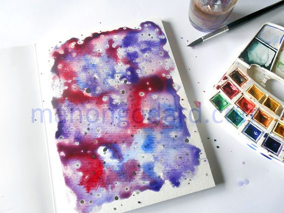 DIY Aquarelle Galaxie