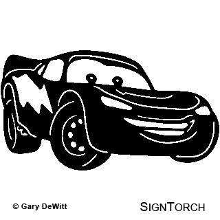 Lightning mcqueen coloring pages disney cars tow mater coloring pages - Lightening Mcqueen Silhouette Maybe A Freezer Paper