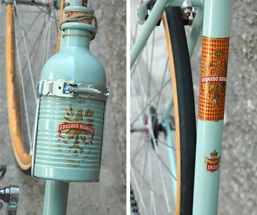 The water bottle. On that Corsa. When Italian cyclists get flattened by Alfa Romeos in Rome, this is what they sip Acqua Lilia from in heaven.