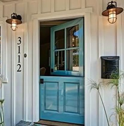 Decorating with doors inside and out dutch door front for Cottage back door