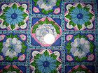1/2 yd~ Vintage Green Pink Blue  Flower Power Cotton Fabric~ Quilt quality