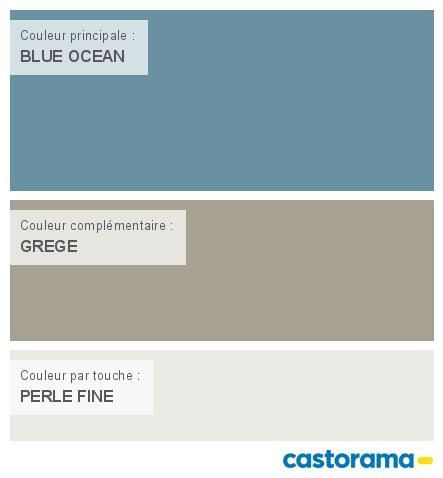 Castorama Nuancier Peinture - Mon Harmonie Peinture Blue Ocean Mat