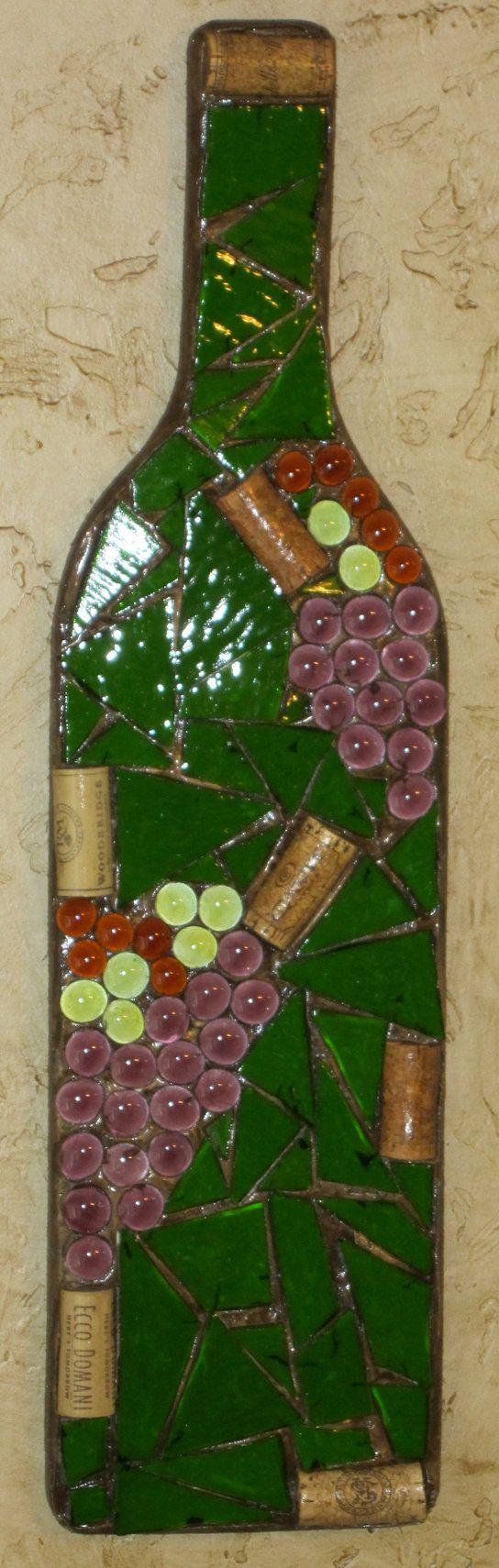 how to break wine bottles for mosaic