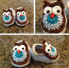 Baby crochet shoes boys handmade animal pattern shoes girls bunny sandals tiger slipper owl booties lion first walkers free shipping