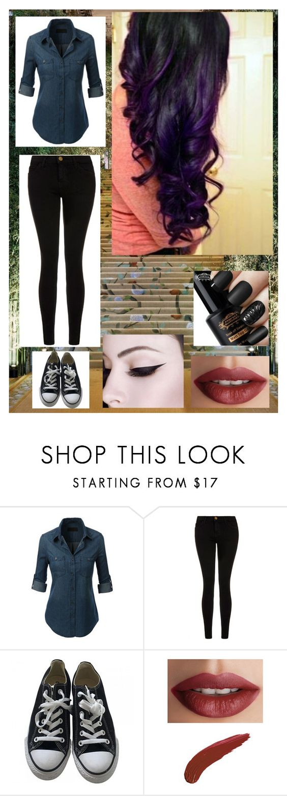 """""""seeing is believing"""" by xxx-nightrose-xxx ❤ liked on Polyvore featuring GALA, Current/Elliott, Converse and TheBalm"""