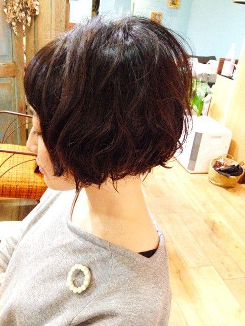 安田成美さん風ショートボブ 髪の毛 ボブ 髪型 ショートボブ