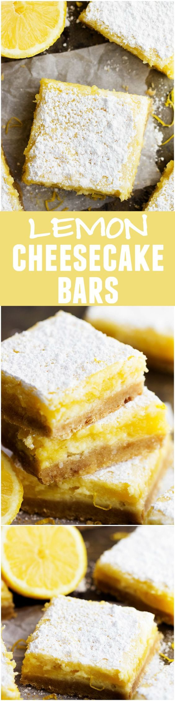 Lemon Cheesecake Bars Recipe via The Recipe Critic - These are the absolute BEST lemon cheesecake bars! They will be raved about wherever they go!