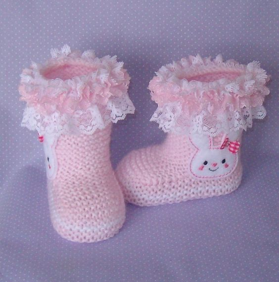 Hand knitted designer baby booties and hats. Available to order at https://www.etsy.com/au/shop/just2cuteknits