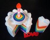 New-DIY felt rainbow cake(double tiers)---PDF Pattern via Email--F30. $5.99, via Etsy.