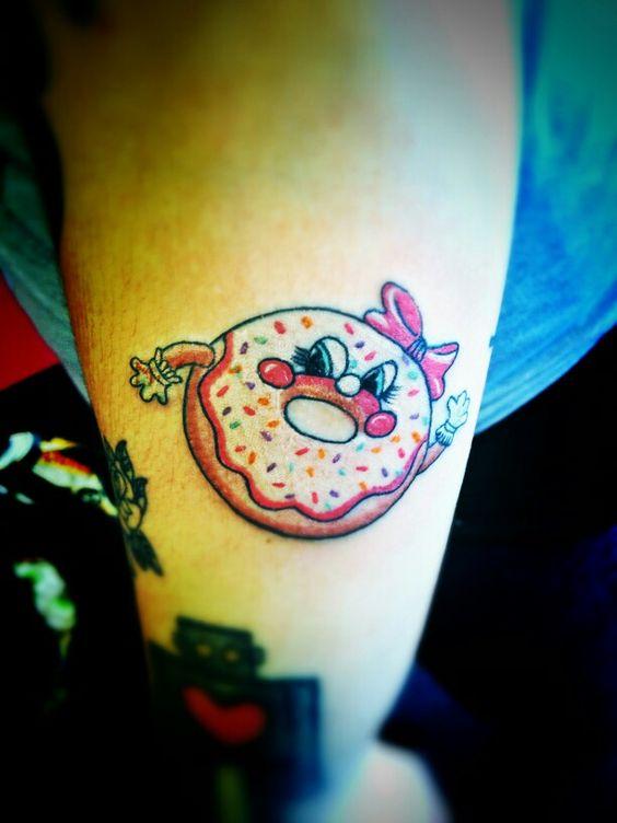 fun little donut tattoo by strikertattoo tattoos pinterest donuts fun and tattoos and. Black Bedroom Furniture Sets. Home Design Ideas